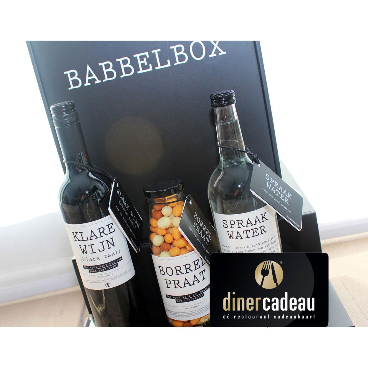 Diner Cadeau 15 Euro Babbelbox Lekker Borrelen