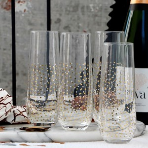 SENZA Set Of Two Champagne Glasses