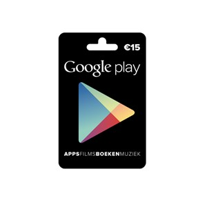 Google Play Gift Card €15,=